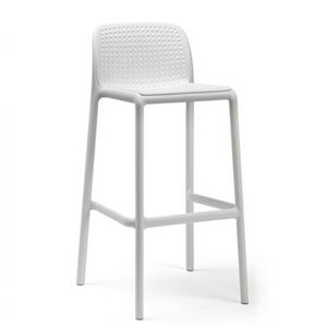 Lido Resin Outdoor Bar Stool White NR-40344