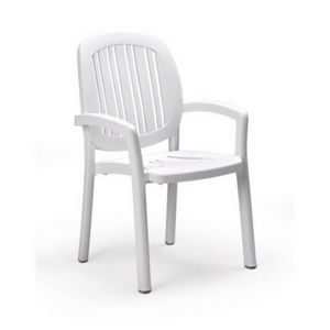 Ponza Resin Stacking Dining Chair White NR-40268