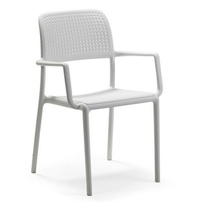 Bora Resin Outdoor Arm Chair White NR-40242