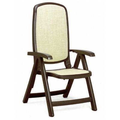 Delta Adjustable Folding Sling Chair Brown Beige