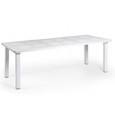 Levante Resin Rectangle Outdoor Extension Dining Table 86 inch NR-47053