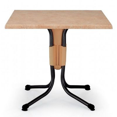Polo Square Werzalit Top Folding Table Catalan Brown 31 inch NR-50852.06.194