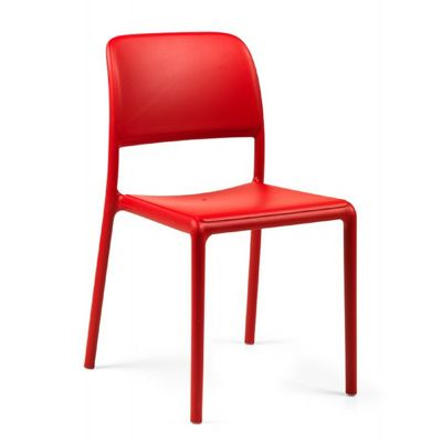 Riva Bistrot Resin Outdoor Chair Red NR-40247