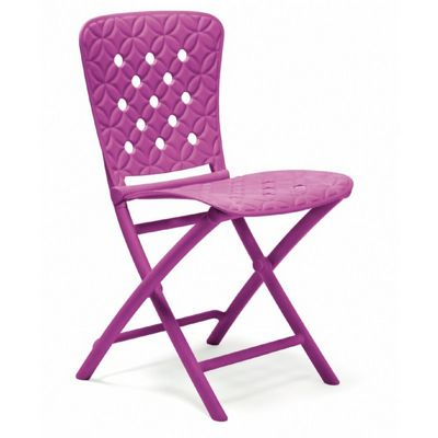 Zac Spring Resin Folding Dining Chair Purple NR-40325