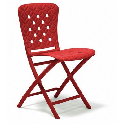 Zac Spring Resin Folding Dining Chair Red NR-40325
