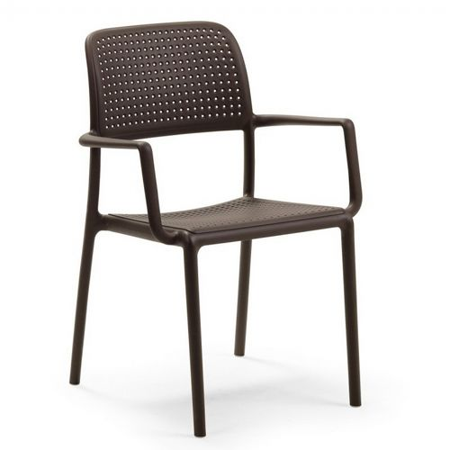 Bora Resin Outdoor Arm Chair Cafe Brown NR-40242-05