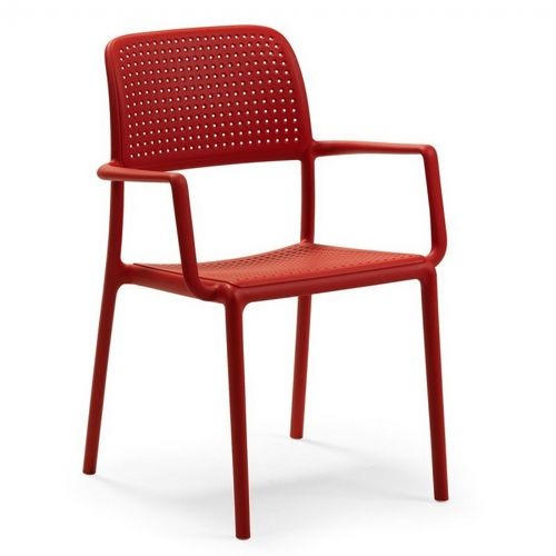 Bora Resin Outdoor Arm Chair Red NR-40242-07