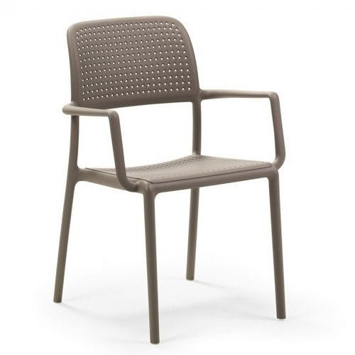 Bora Resin Outdoor Arm Chair Tortora Beige NR-40242-10