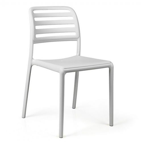 Costa Bistrot Resin Outdoor Chair White NR-40245-00