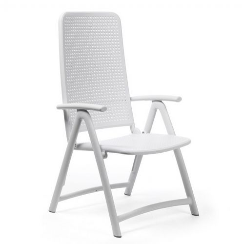 Darsena Outdoor Folding Chair in White NR-40316-00
