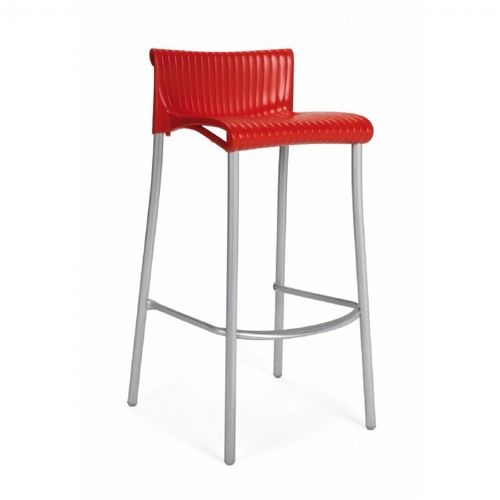 Duca Outdoor Bar Chair Red NR-75254-07