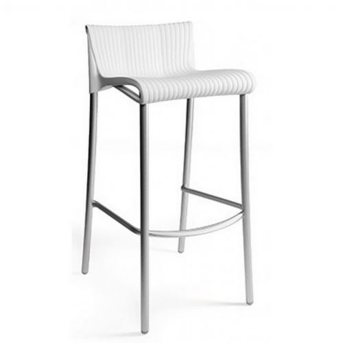 Duca Outdoor Bar Chair White NR-75254-00