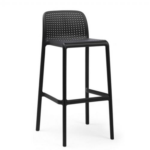 Lido Resin Outdoor Bar Stool Anthracite NR-40344-02