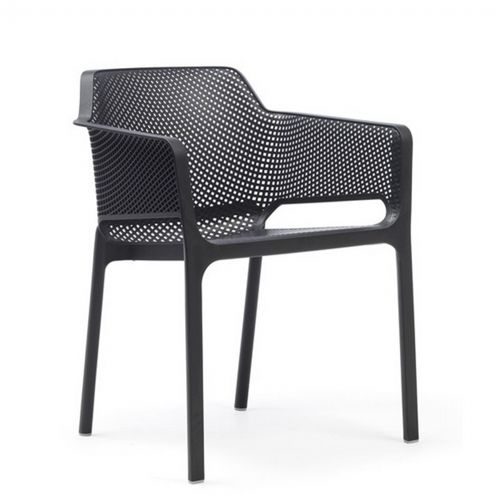Net Contemporary Outdoor Arm Chair Anthracite NR-40326-02