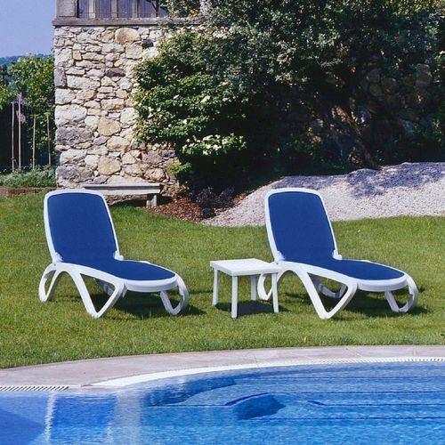 Omega 3 Pc Commercial Lounge Pool Furniture Set NR OMEGASET3