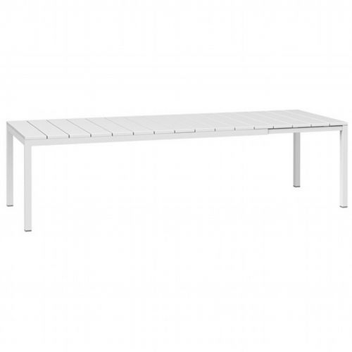 Rio Rectangle 82 inch to 110 inch Extension Dining Table White NR-48253-00-000