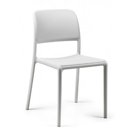 Riva Bistrot Resin Outdoor Chair White NR-40247-00