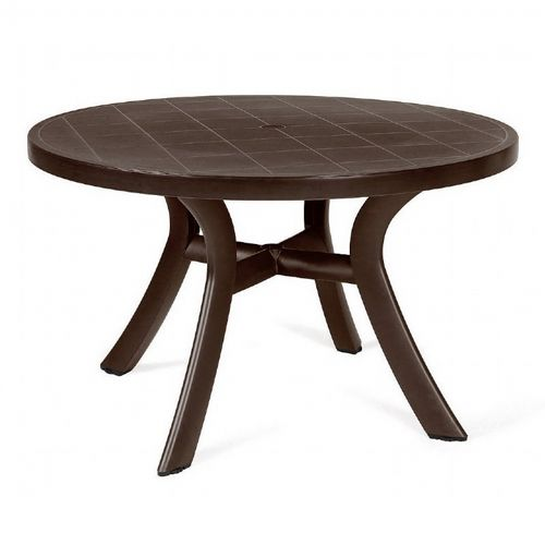 Toscana Round Dining Table 47 inch Brown NR-40123-05