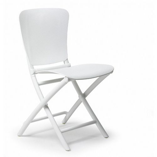Zac Classic Resin Folding Dining Chair White NR-40324-00