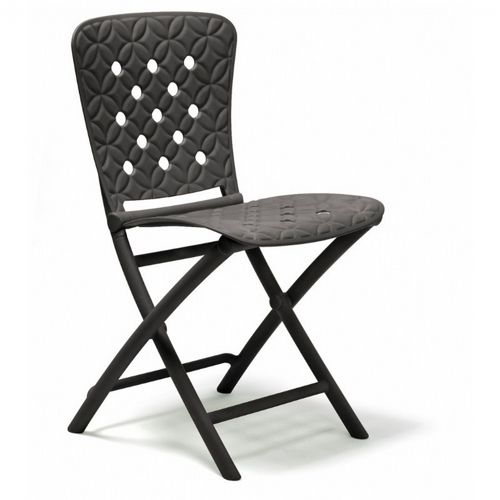 Zac Spring Resin Folding Dining Chair Anthracite NR-40325-02