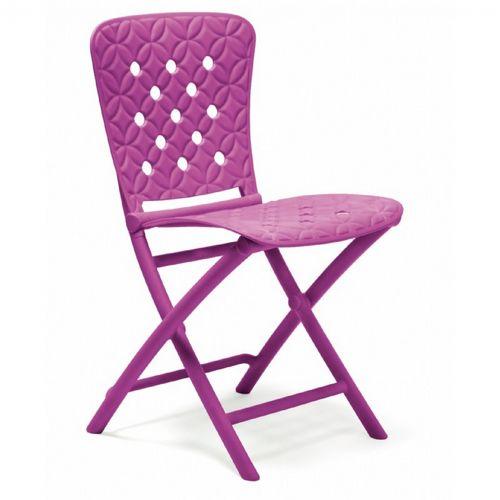 Zac Spring Resin Folding Dining Chair Purple Nr 40325 13