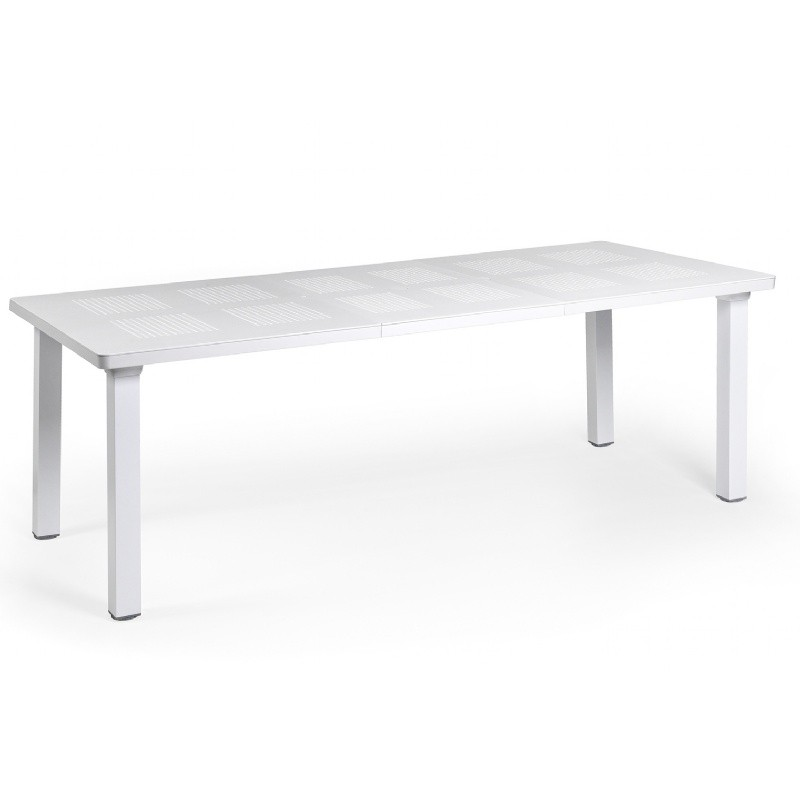 Levante Resin Rectangle Outdoor Extension Dining Table 86 Inch