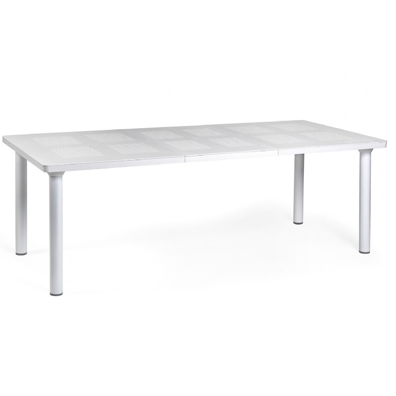 Libeccio Resin Rectangle Outdoor Extension Dining Table 86 inch