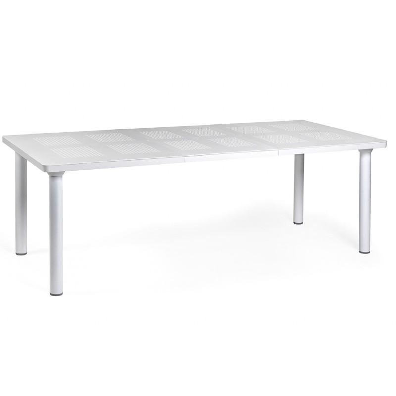 Libeccio Resin Rectangle Outdoor Extension Dining Table 86 Inch