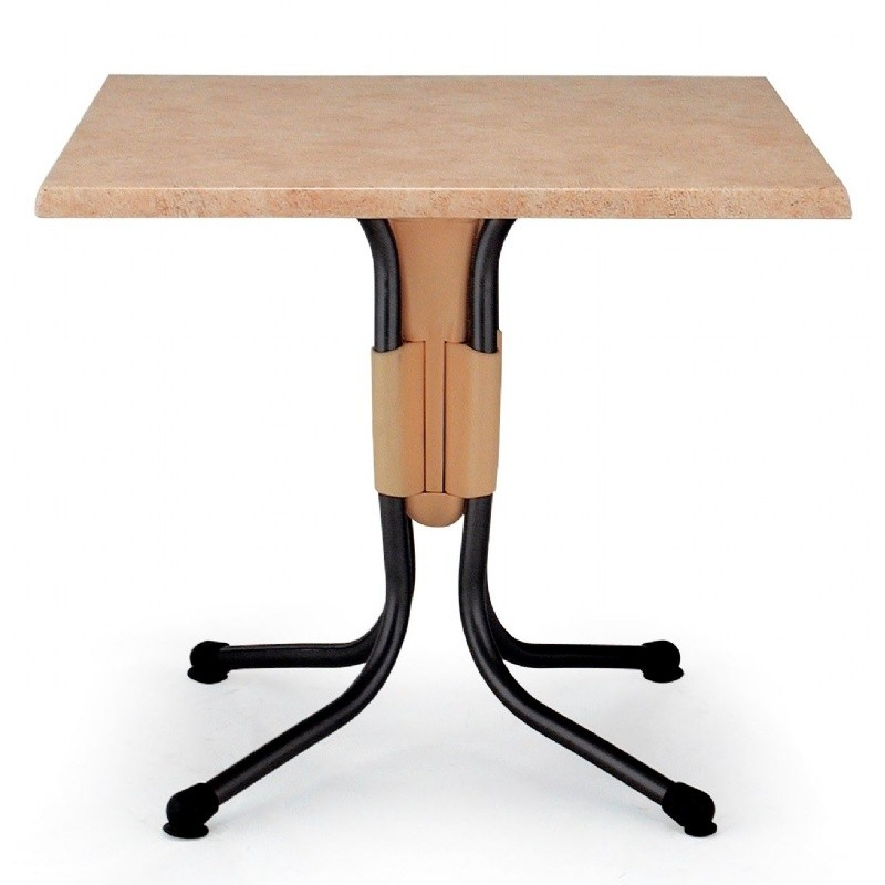 Polo Square Werzalit Top Folding Table Catalan Brown 31 inch