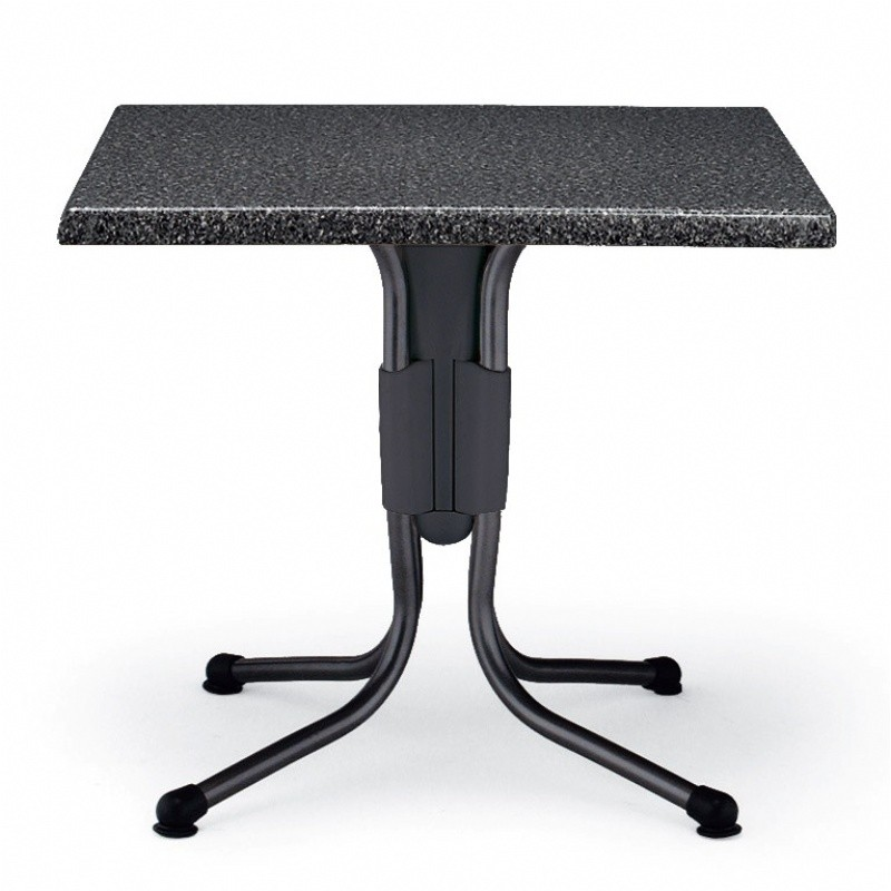 Polo Square Werzalit Top Folding Table Granito 31 inch