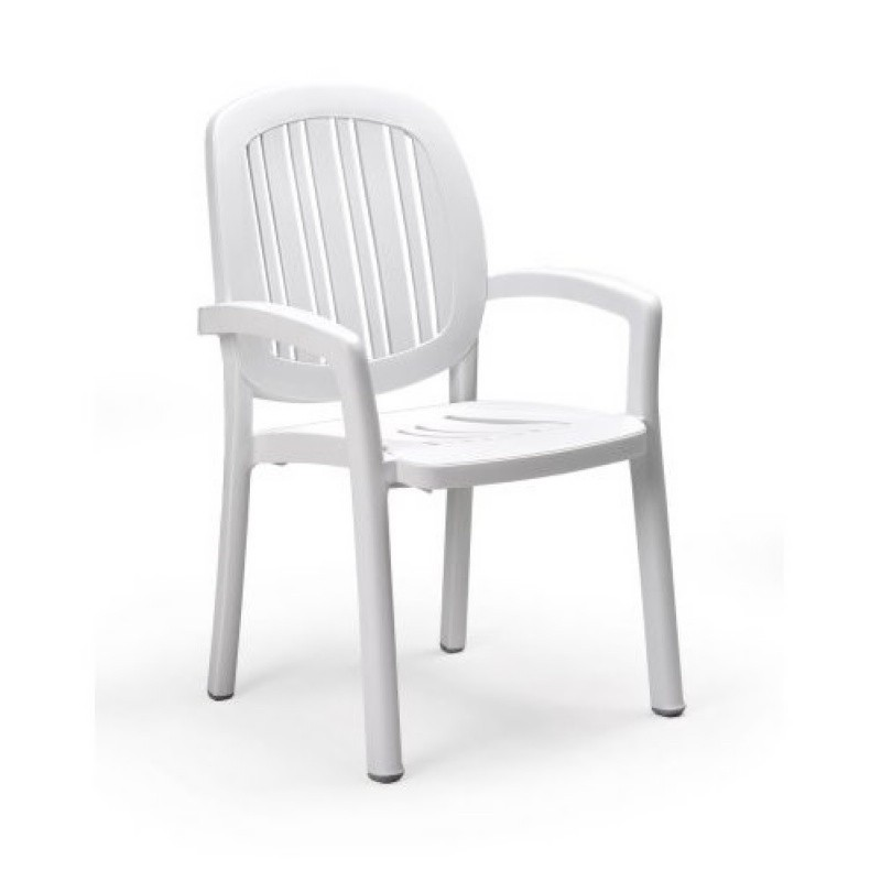 Outdoor Furniture: Plastic Outdoor Chairs: Ponza Resin Stacking Dining Chair