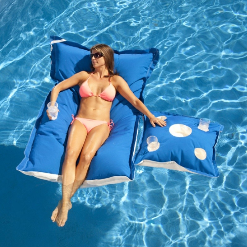 Cloth Covered Pool Floats: Kai Canvas Pool Float