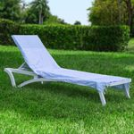 Hoody Beach Soft Cotton Chaise Cover Blue Stripes HFG001