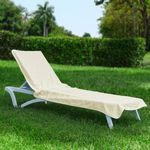 Resort Chaise Cover Towel Light Beige HFG002