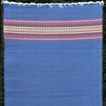 Outdoor Carpet Mat 4' x 6' Serape Dark Blue MMSER46DB
