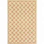 Sisal Design 8' × 10' Outdoor Rug Cream-Brown OR724-12-8X10