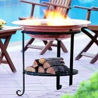 "Elevated Copper Fire Pit 30"" U91000"