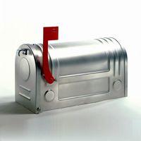 Sandblasted Steel Post Mailbox E3S