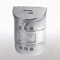 Small Steel Wall Mailbox w/ Steel Label E1M