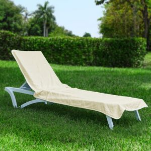 Resort Chaise Cover Towel Light Beige HFG002-BEI