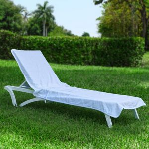 Resort Chaise Cover White Towel HFG002-WHI