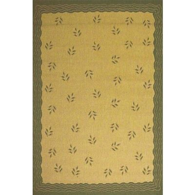 Modern Floral 5' × 8' Outdoor Rug Cream-Brown OR1302-12-5X8