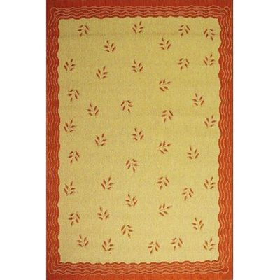 Modern Floral 6' x 9' Outdoor Rug Cream-Terra OR1302-11-6X9