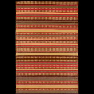 Outdoor Carpet Mat 4' x 6' Stripes Warm Brown MMSTP46WB
