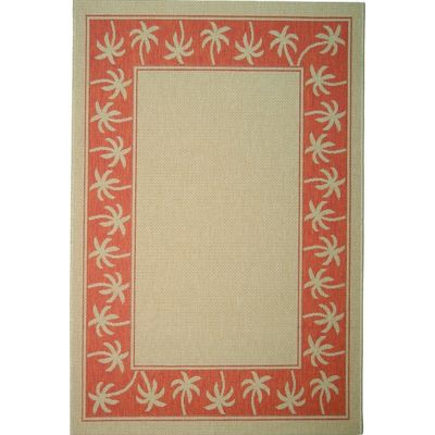 Palms 6u0027 X 9u0027 Outdoor Rug Cream Terra ORS04 11 6X9