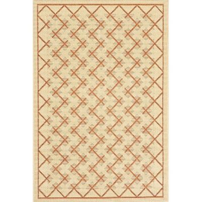 Sisal Design 8' x 10' Outdoor Rug Cream-Brown OR724-12-8X10