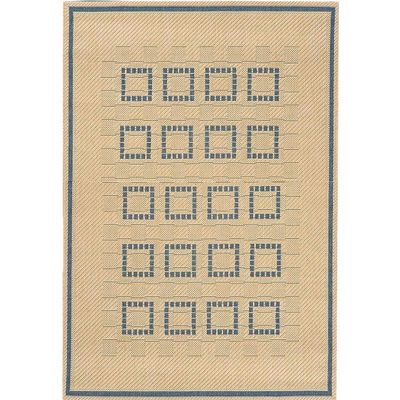 Squares 8' x 10' Outdoor Rug Cream-Blue OR27-13-8X10