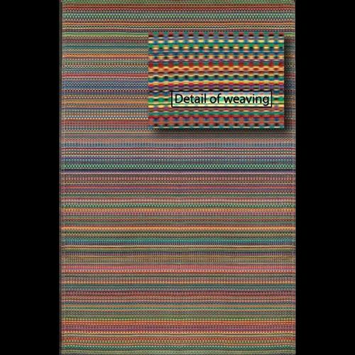 Outdoor Carpet Mat 4' × 6' Rag Rug Rainbow MMMIX46RA