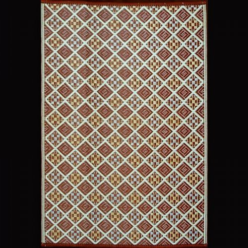 Outdoor Carpet Mat 4' × 6' Scotch Teal-Brown MMSCO46TB