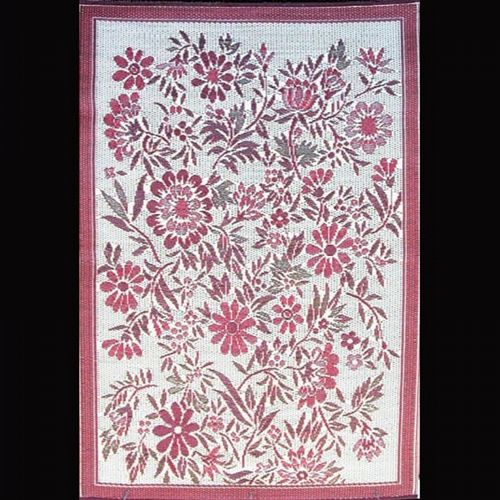 Outdoor Carpet Mat 4' × 6' Wildflower Cranberry MMWIL46CY
